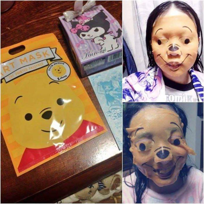 mascara mal colocada